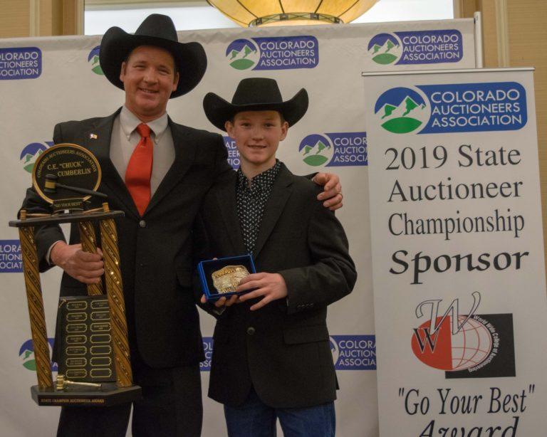 Michael Nichols, 2019 Colorado State Auctioneer Champion, & Rylee Nichols, 2018 Colorado Jr. Bid Calling Champion